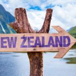 Hinweisschild Ziel Neuseeland