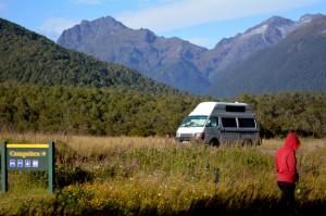 Campervan im Fjordland/NZ