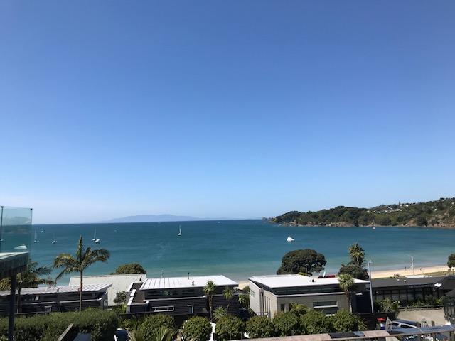 Blick auf den Strand von Oneroa, den ich aber nicht besucht habe.