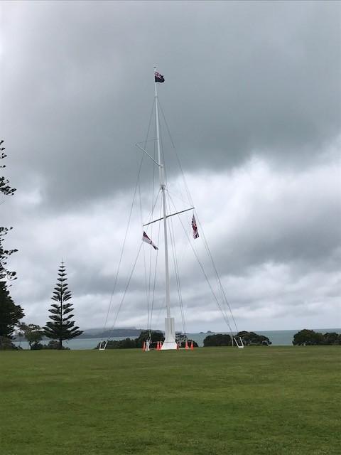 Die drei Flaggen, die Neuseeland konstituieren