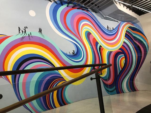 Wandgemälde in der Station