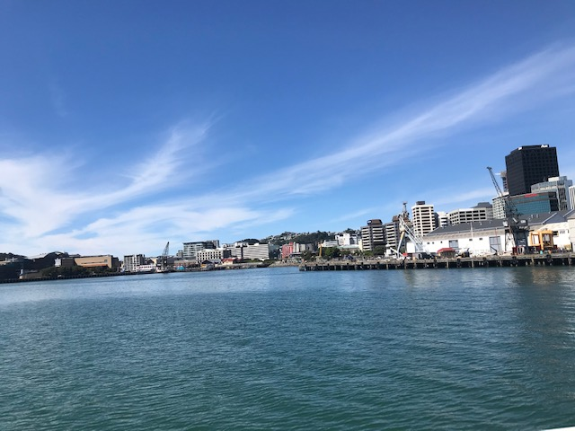 Blick zurück zur Waterfront