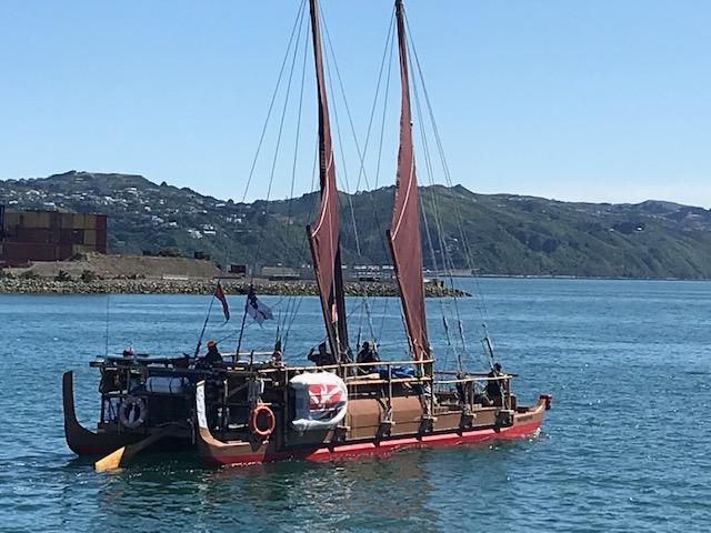 Nachbau eines alten polynisischen Segelschiffes
